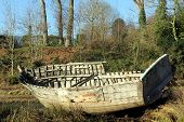 picture of wrecking  - The Wreck of  an Old Wooden Boat - JPG
