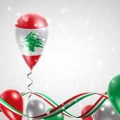 foto of twist  - Flag of Lebanon on balloon - JPG