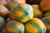 picture of papaya fruit  - Many delicious Papaya fruits arrangement - JPG