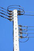 foto of pole  - Electrical wire on pole - JPG
