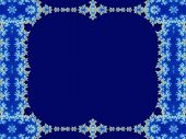 stock photo of mandelbrot  - blue background with mandelbrot fractals ornamental frame - JPG