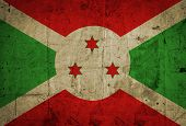 stock photo of burundi  - Grunge Burundi Flag on old paper background - JPG