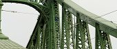 pic of old bridge  - Old welded bridge colored with green  - JPG