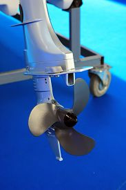 pic of outboard engine  - Boat engine propeller - JPG