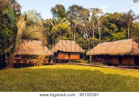 Lodge In The Middle Of The Amazonian Jungle, Cuyabeno Wildlife Reserve, Sucumbios Province