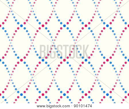 pattern of dots, blue and pink