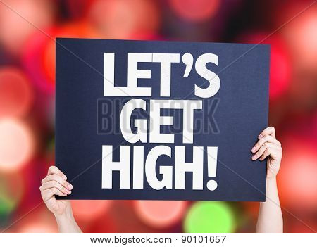 Lets Get High card with bokeh background