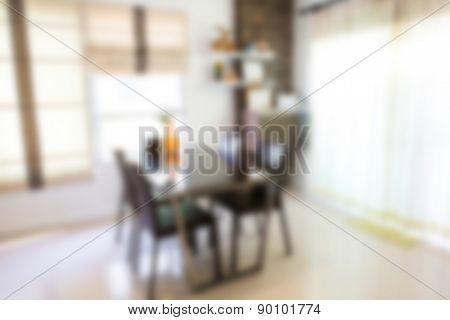 Abstract blur Modern living room interior