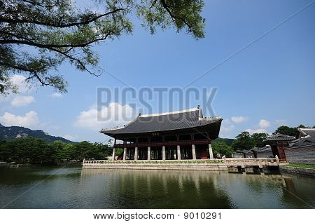 Seoul, Korean traditional architecture, sky, asian roof