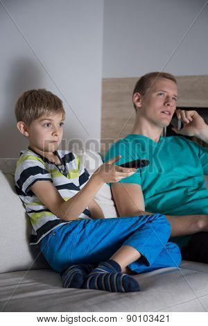 Boy Addicted To Television