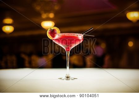 Alcohol Coctail Drink On The Table In Restaurant