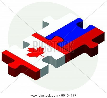 Canada And Russian Federation In Puzzle