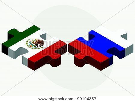 Mexico And Russian Federation In Puzzle