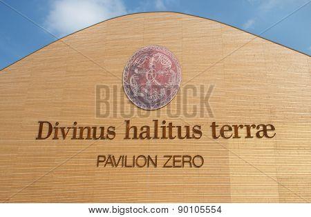 MILAN, ITALY - MAY 06, 2015: Pavilion Zero At Expo 2015