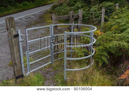 Iron Kissing Gate In Good Condition. Type Of Stile Style.