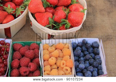 Berries At A Market Stall