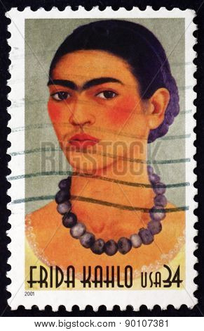 Postage Stamp Usa 2001 Frida Kahlo, Mexican Painter