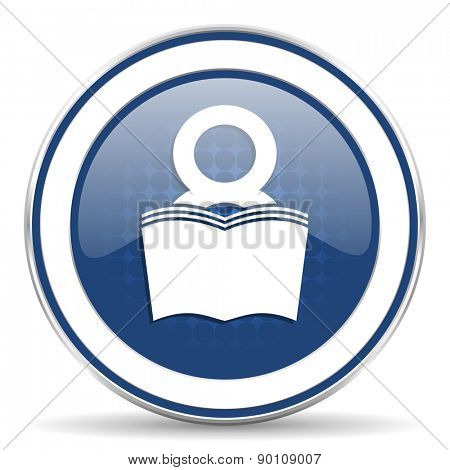 book icon reading room sign bookshop symbol