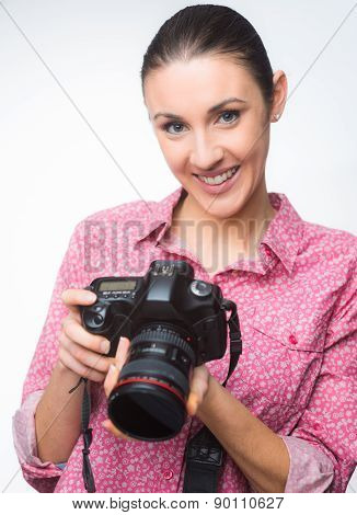 Photographer Posing With Camera