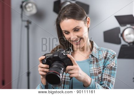 Photographer Posing In A Professional Studio