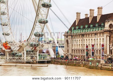 The London Eye Ferris Wheel In London, Uk