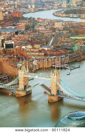 Aerial Overview Of London City