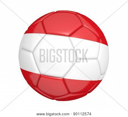 Soccer ball, or football, with the country flag of Austria