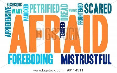 Afraid Word Cloud