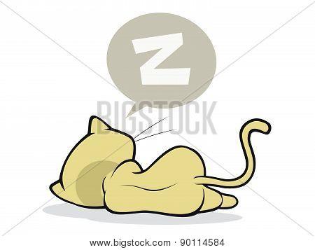 cute and sleepy kitten