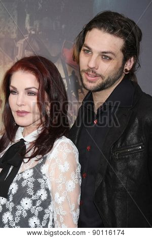 LOS ANGELES - MAY 7:  Priscilla Presley, Navarone Garibaldi at the Mad Max: Fury Road Los Angeles Premiere at the TCL Chinese Theater IMAX on May 7, 2015 in Los Angeles, CA