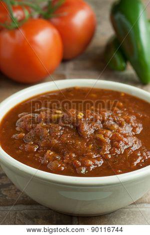 Fresh Salsa In A Bowl