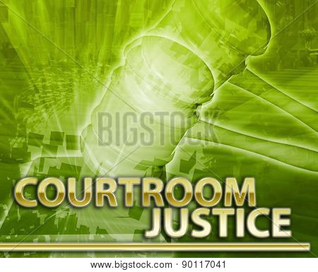 Abstract background digital collage concept illustration courtroom legal justice
