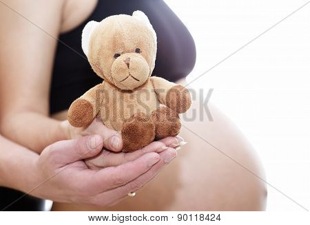 mom and dad prepare bear doll for a new life