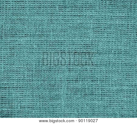 Cadet blue color burlap texture background