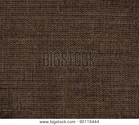 Cafe noir color burlap texture background