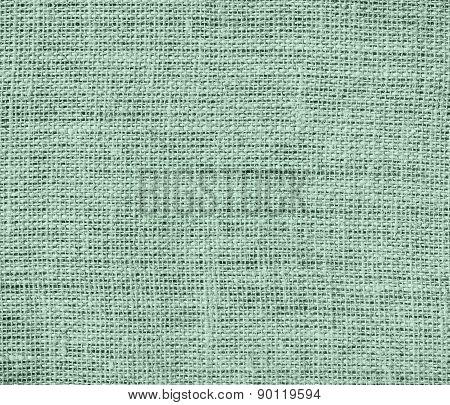 Cambridge Blue color burlap texture background