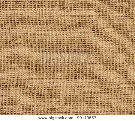 Camel color burlap texture background