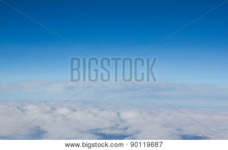 Cloud and blue sky flying