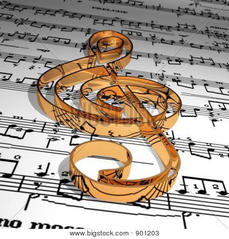 Gold Music Symbol