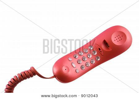 Red  Pushbutton phone