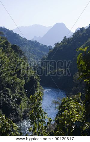 Ban Phatang, Nam Song River and forest, Lao People Democratic Republic