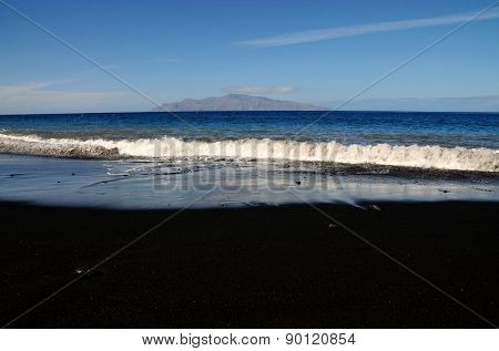 Waves On Black Sand
