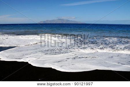 White Foamy Waves On Beach