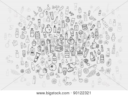 Cosmetic Products Background