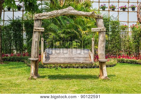 Old Wood Garden Chair