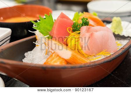 Sashimi Set In The Japanese Restaurant