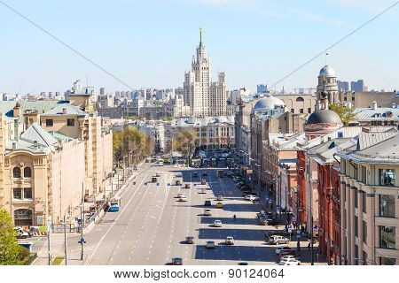 Lubyanka And Novaya Square In Moscow In Spring