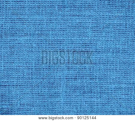 Celestial blue color burlap texture background