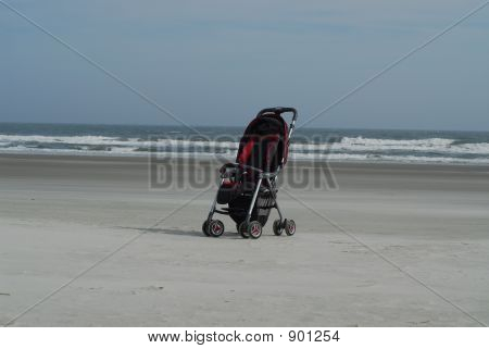 A Stroller At The Seaside