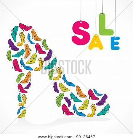 fashion footwear sale banner design